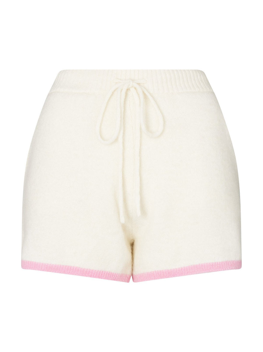 Harriet Ivory Alpaca Blend Shorts