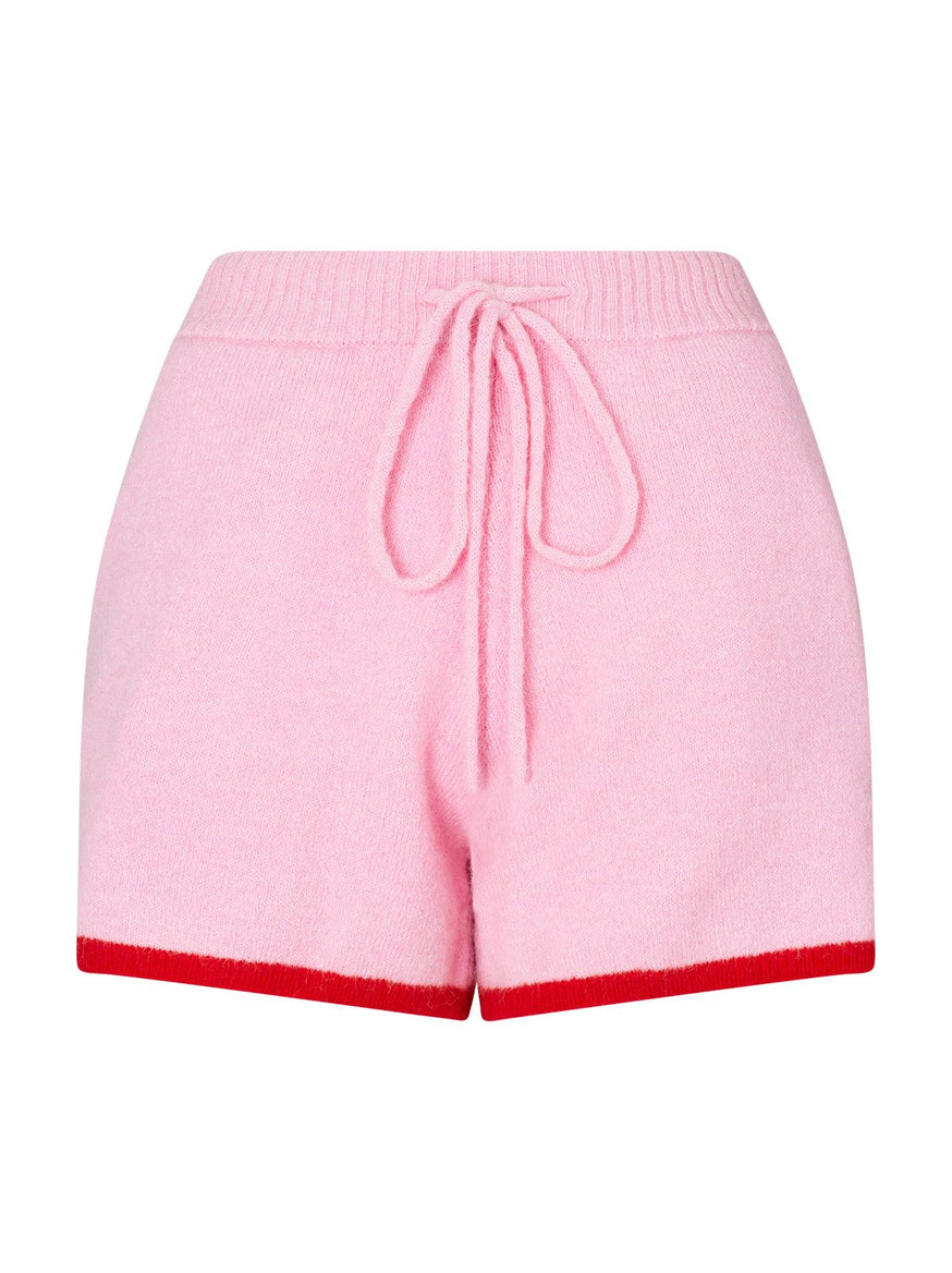 Harriet Pink Alpaca Blend Shorts