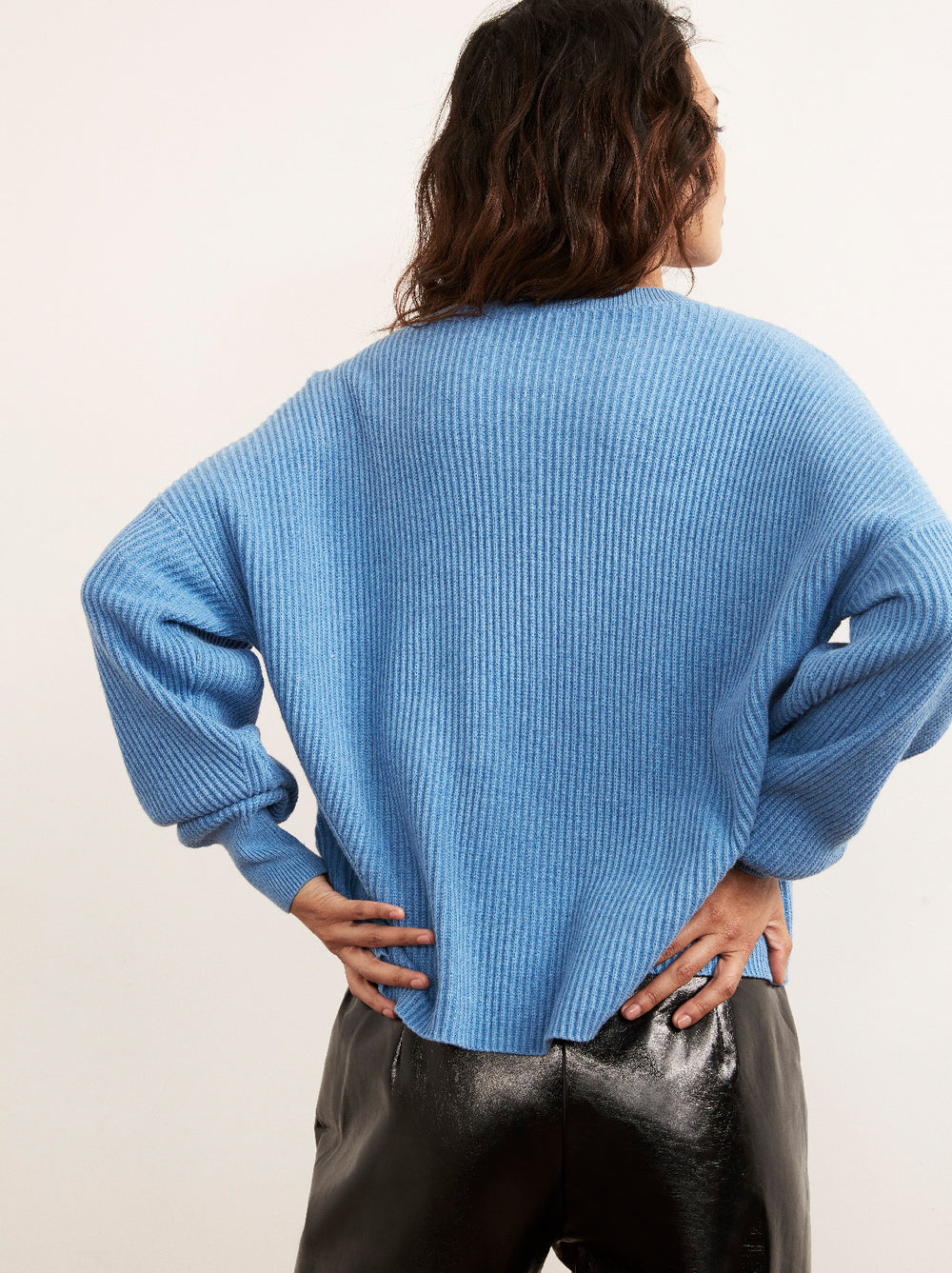 Hettie Blue Crew Neck Jumper by KITRI Studio
