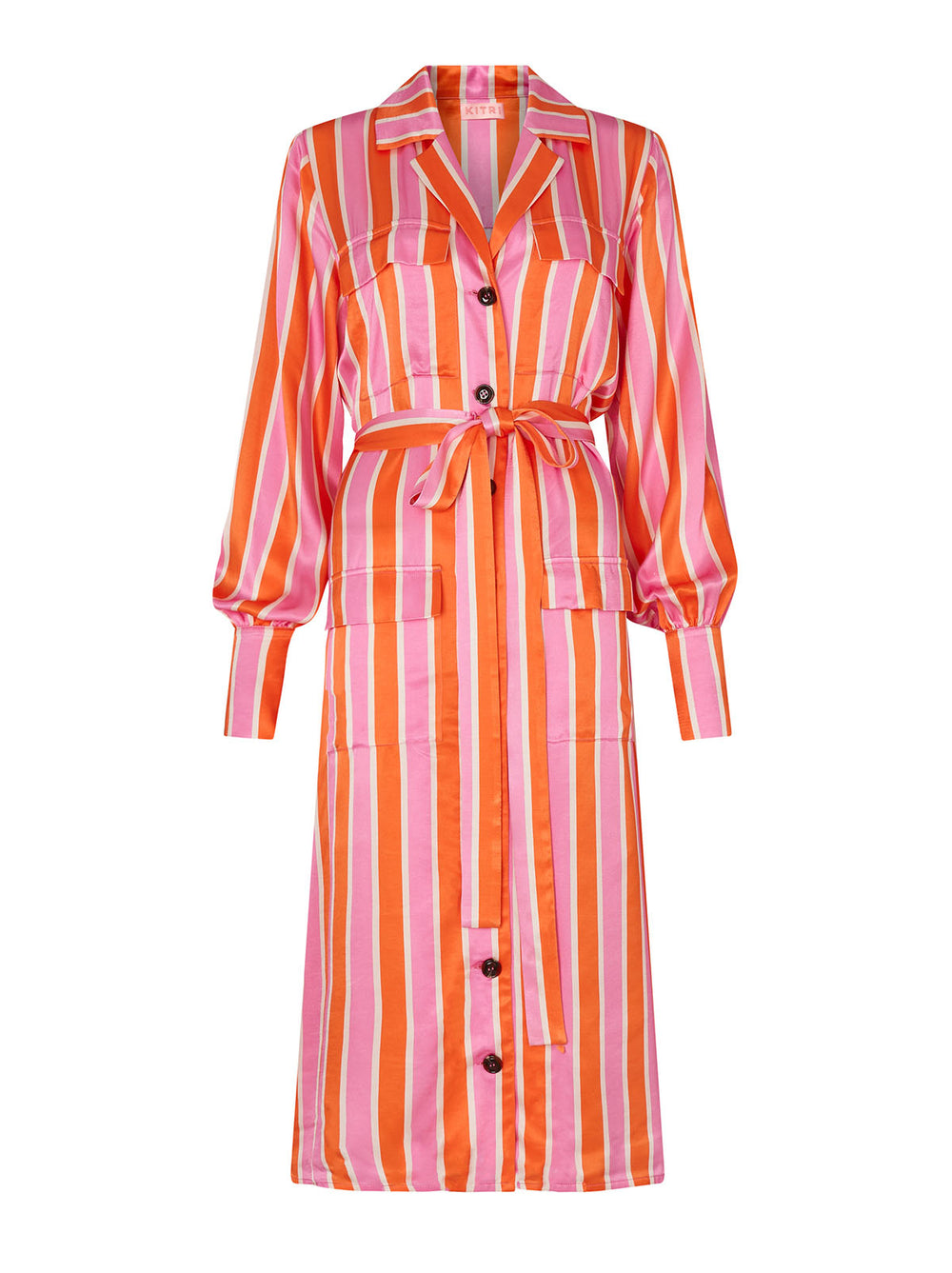 Irina Candy Stripe Shirt Dress