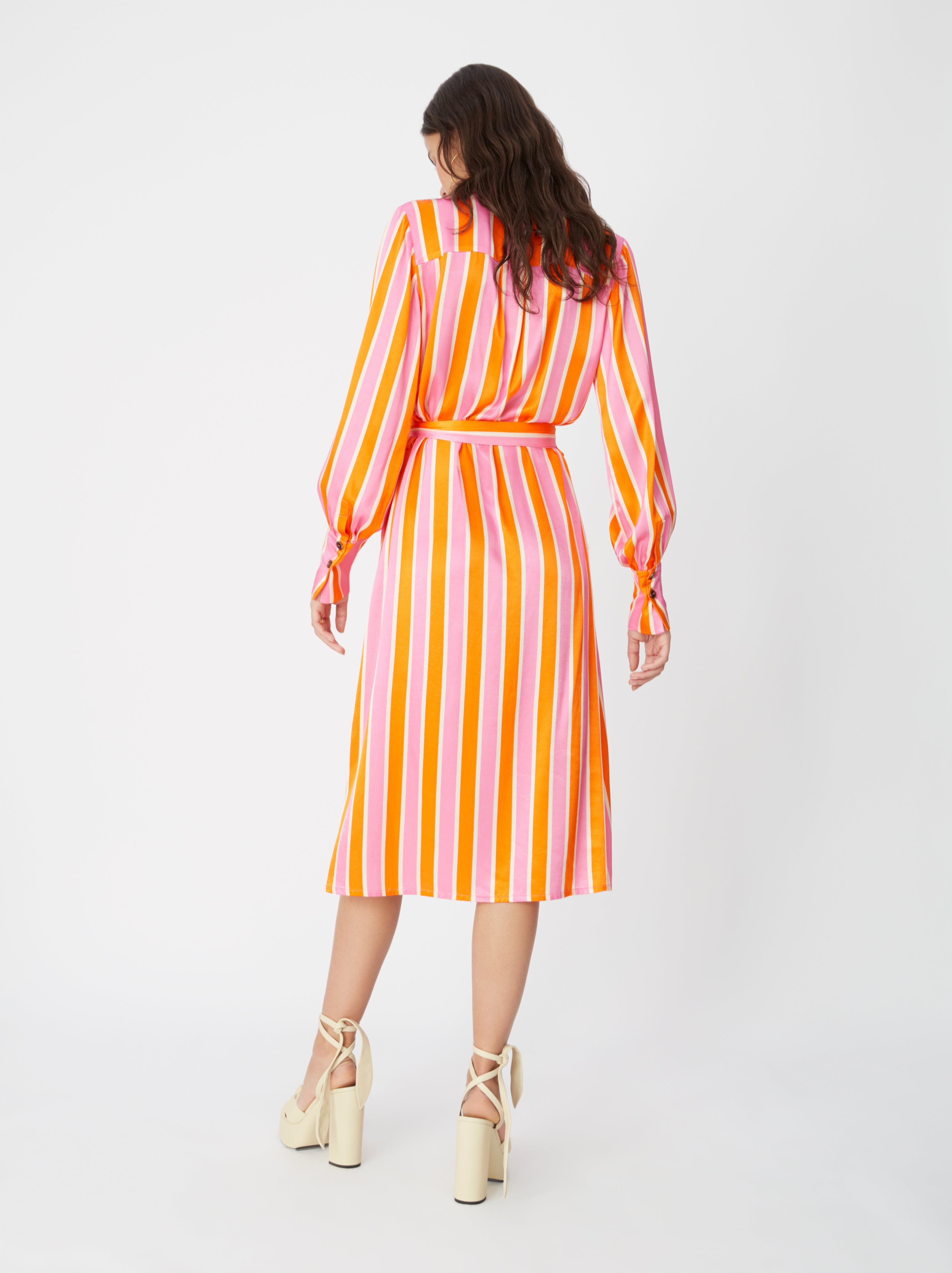 Irina Candy Stripe Shirt Dress by KITRI Studio