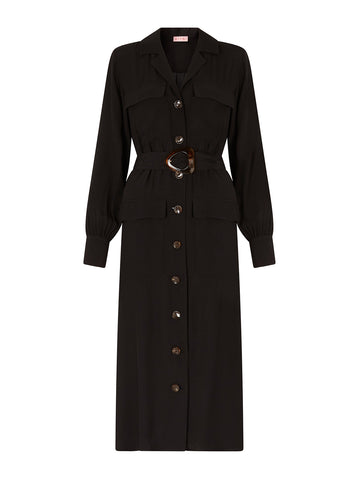 Irina Black Shirt Dress Mannequin by KITRI Studio