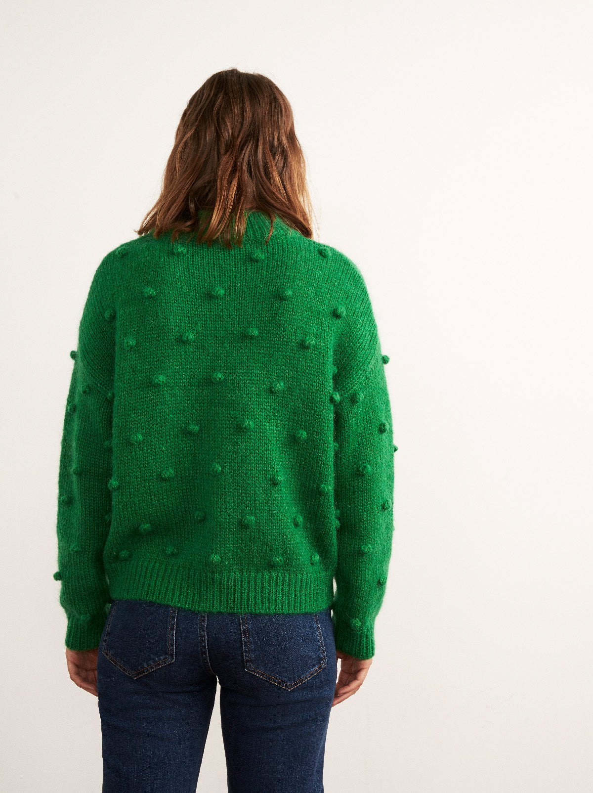 Josephine Green Mohair Bobble Jumper by KITRI Studio