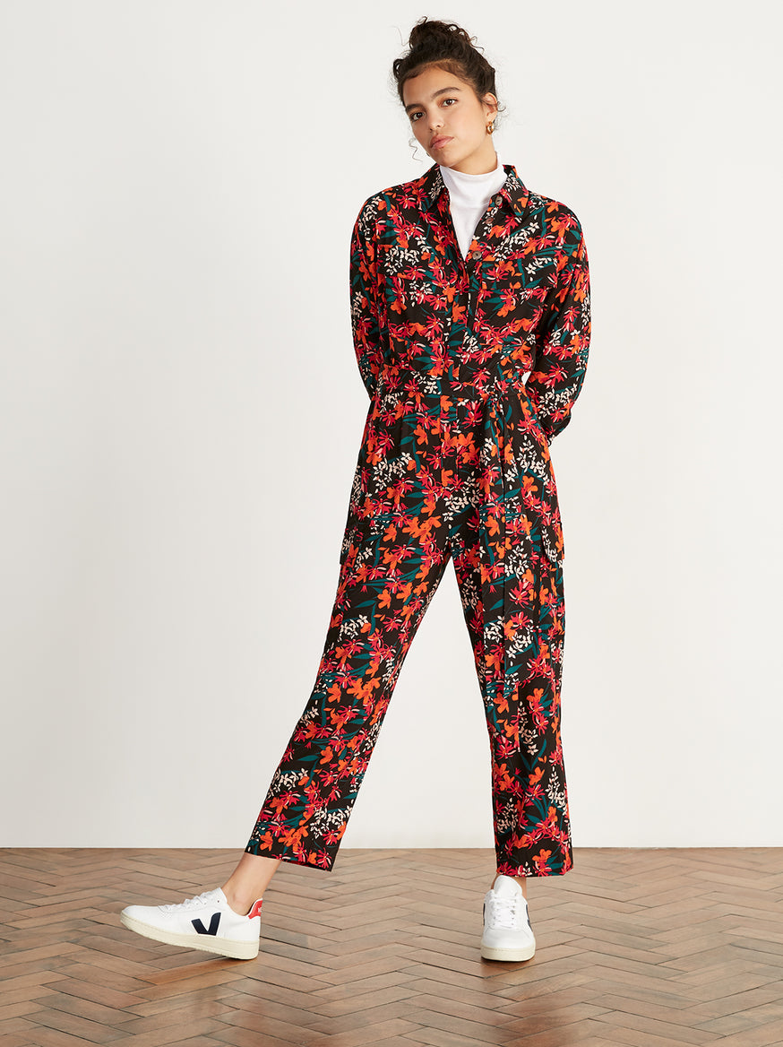 Jule Printed Oversized Boiler Suit by KITRI Studio
