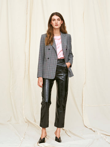 Alessandra Checked Blazer