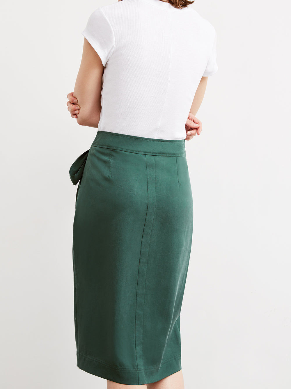 Bethany Green Tie Waist Skirt by KITRI Studio