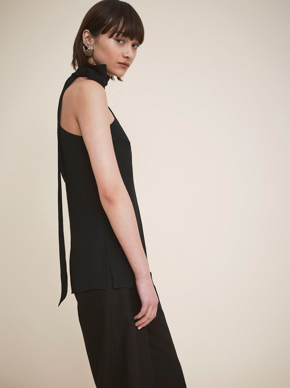 Fonteyn Black One Shoulder Top by KITRI Studio