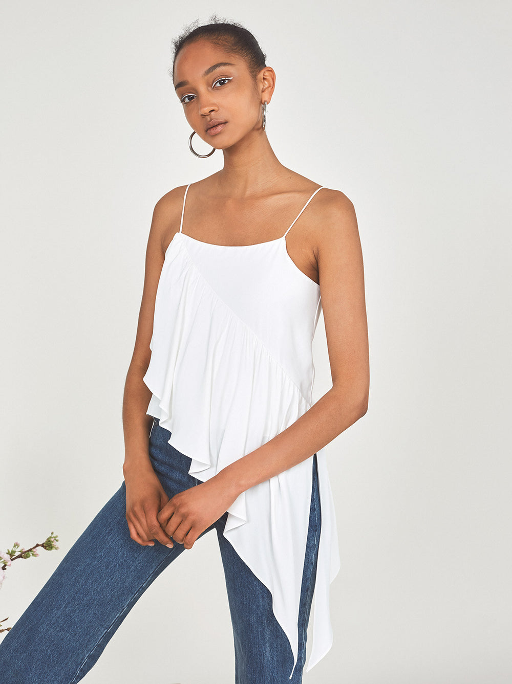 Gillian Frilled Ruffle Cami Top by KITRI Studio