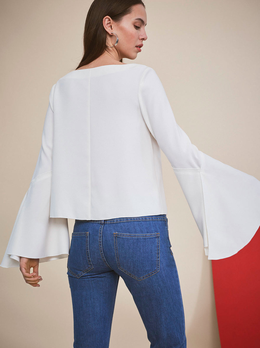 Giselle White Bell Sleeve Blouse by KITRI studio