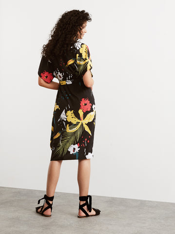 Harlow Floral Print Wrap Dress by KITRI Studio