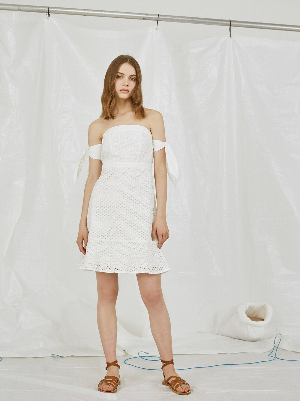 Henriette White Broderie Summer Dress by KITRI Studio