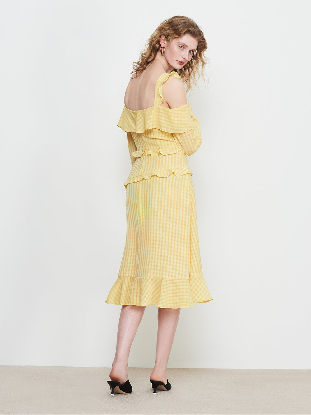 Layla Yellow Frill Sun Dress by KITRI Studio