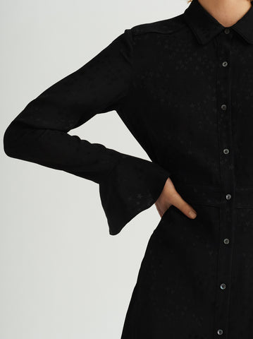 Mariana Black Western Shirt Dress by KITRI Studio
