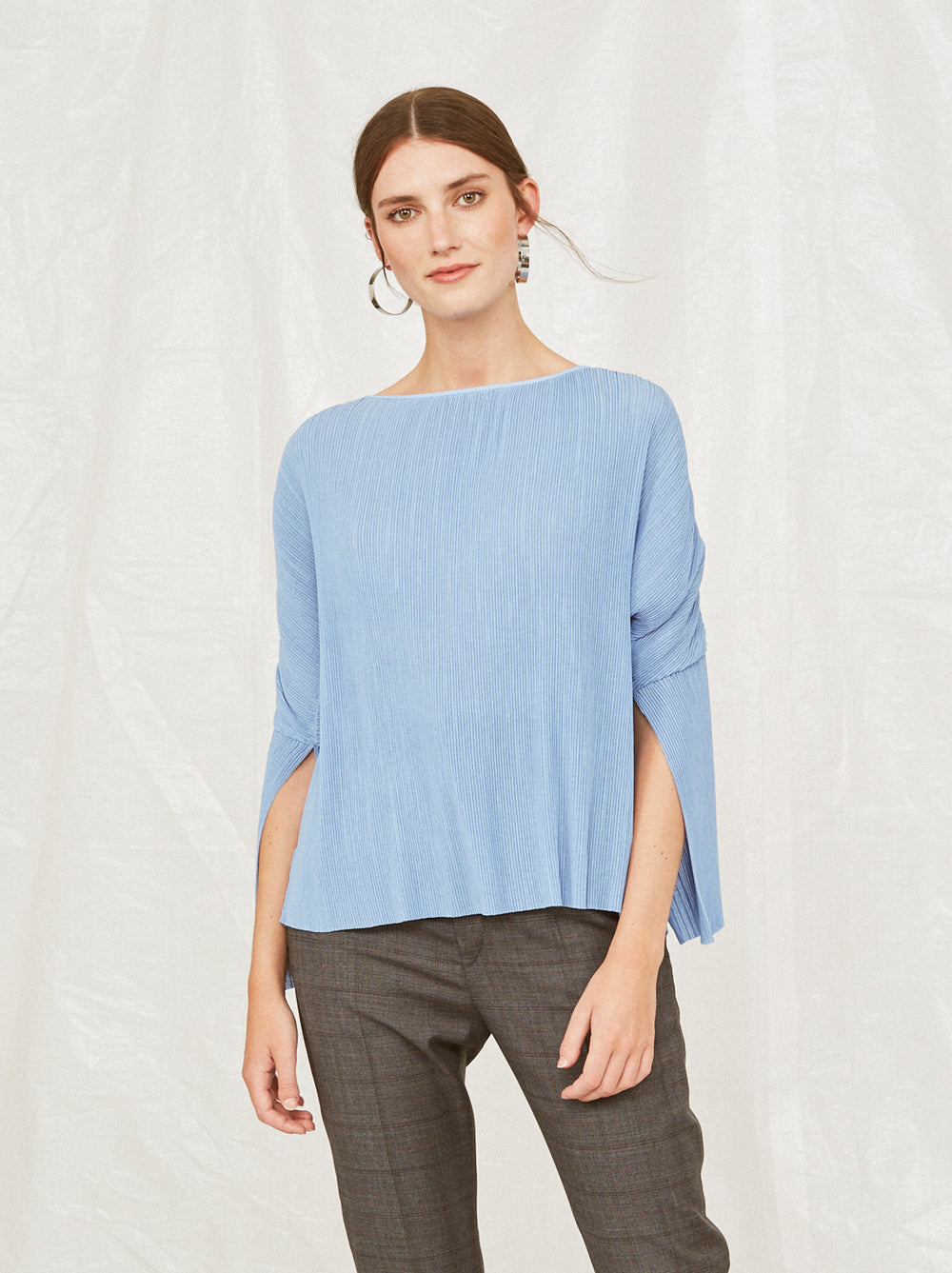 4047262d02fd8 Melissa 3 4 Sleeve Blue Top by KITRI Studio ...