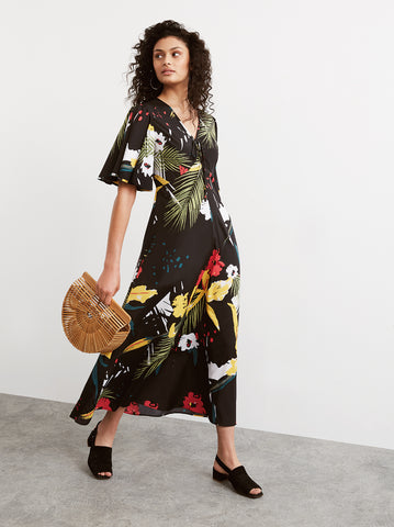 Ophelia Floral Print Maxi Dress by KITRI Studio