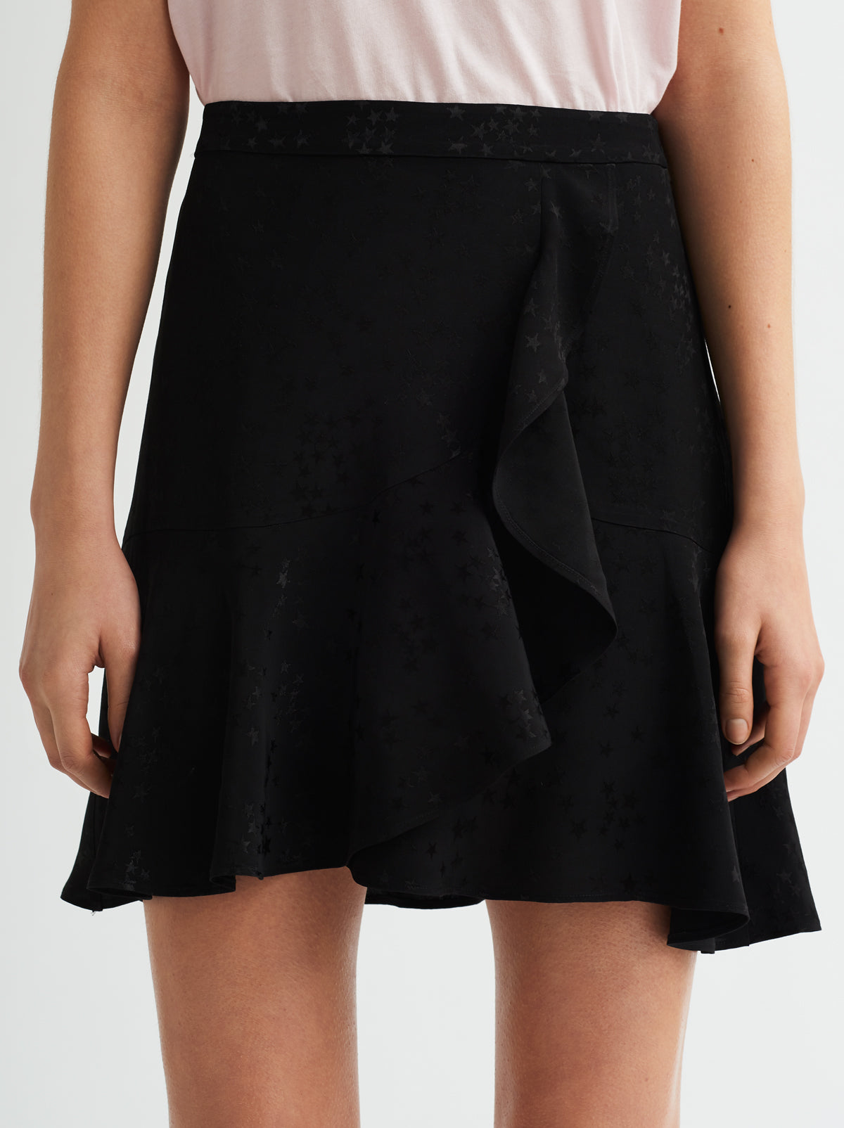 Sasha Black Frill Mini Skirt by KITRI Studio