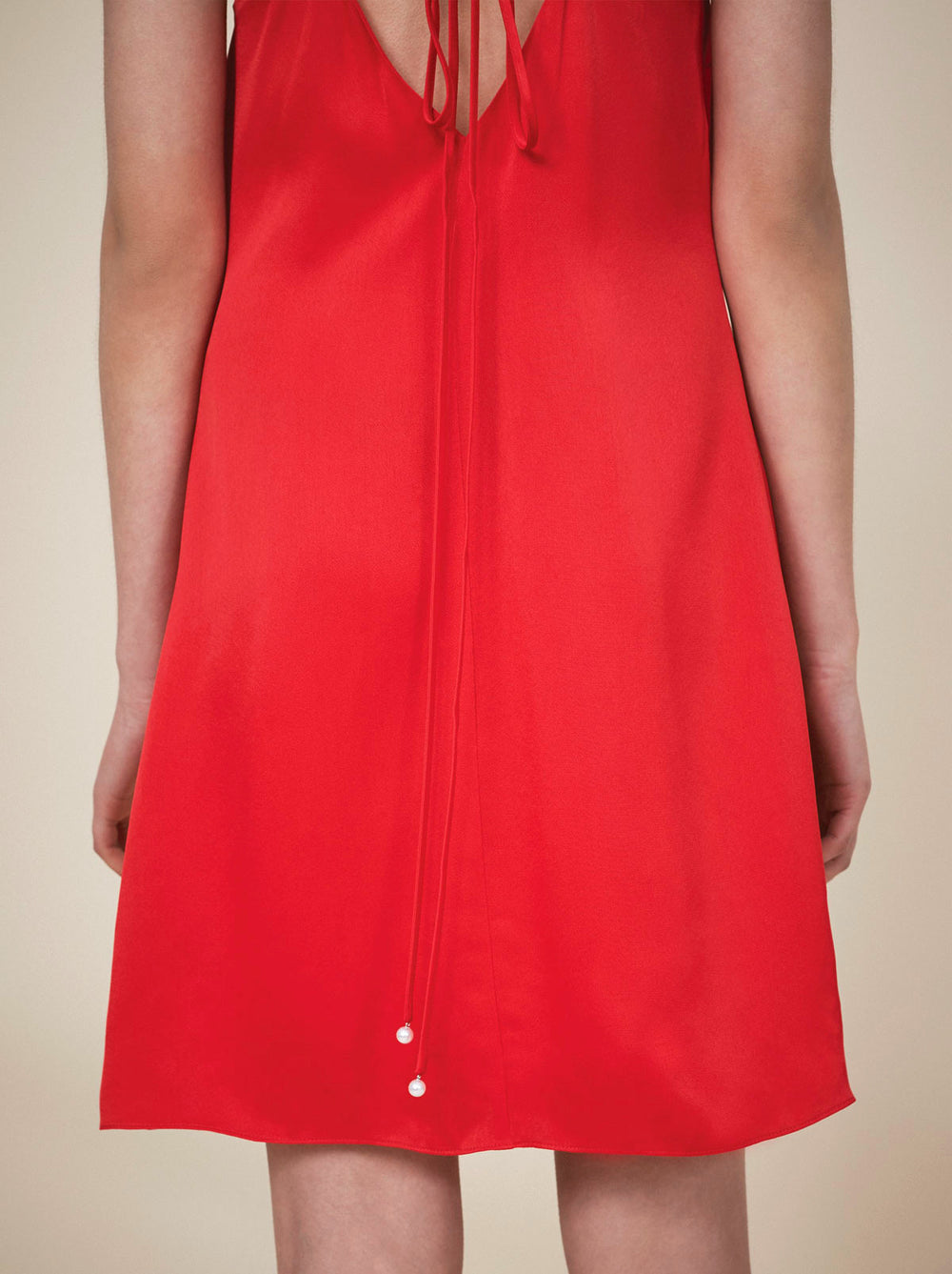 Red 90's cami slip dress by KITRI studio