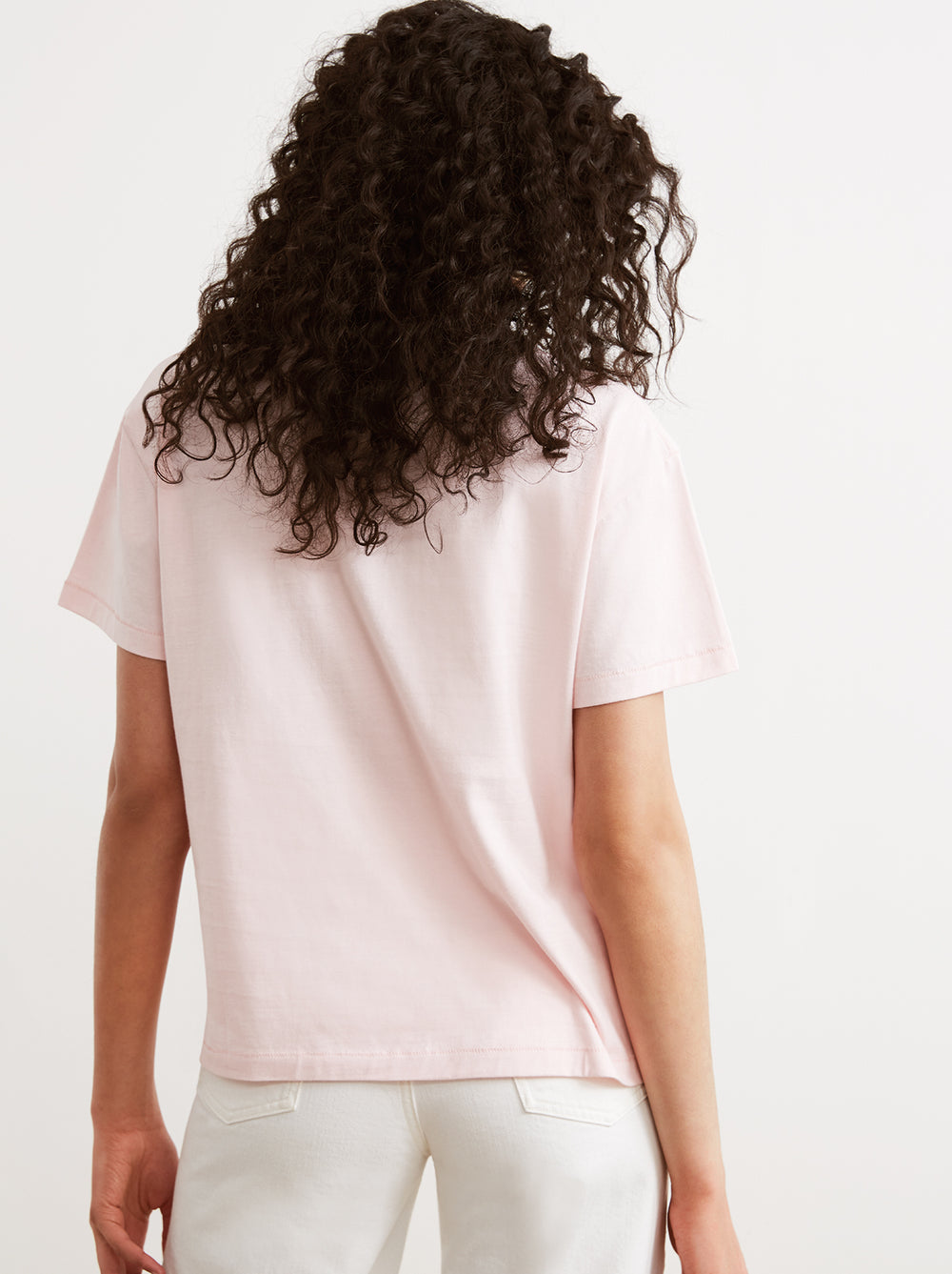 St Paul de Vence Pink Printed Cotton Crew Neck T-shirt by KITRI Studio