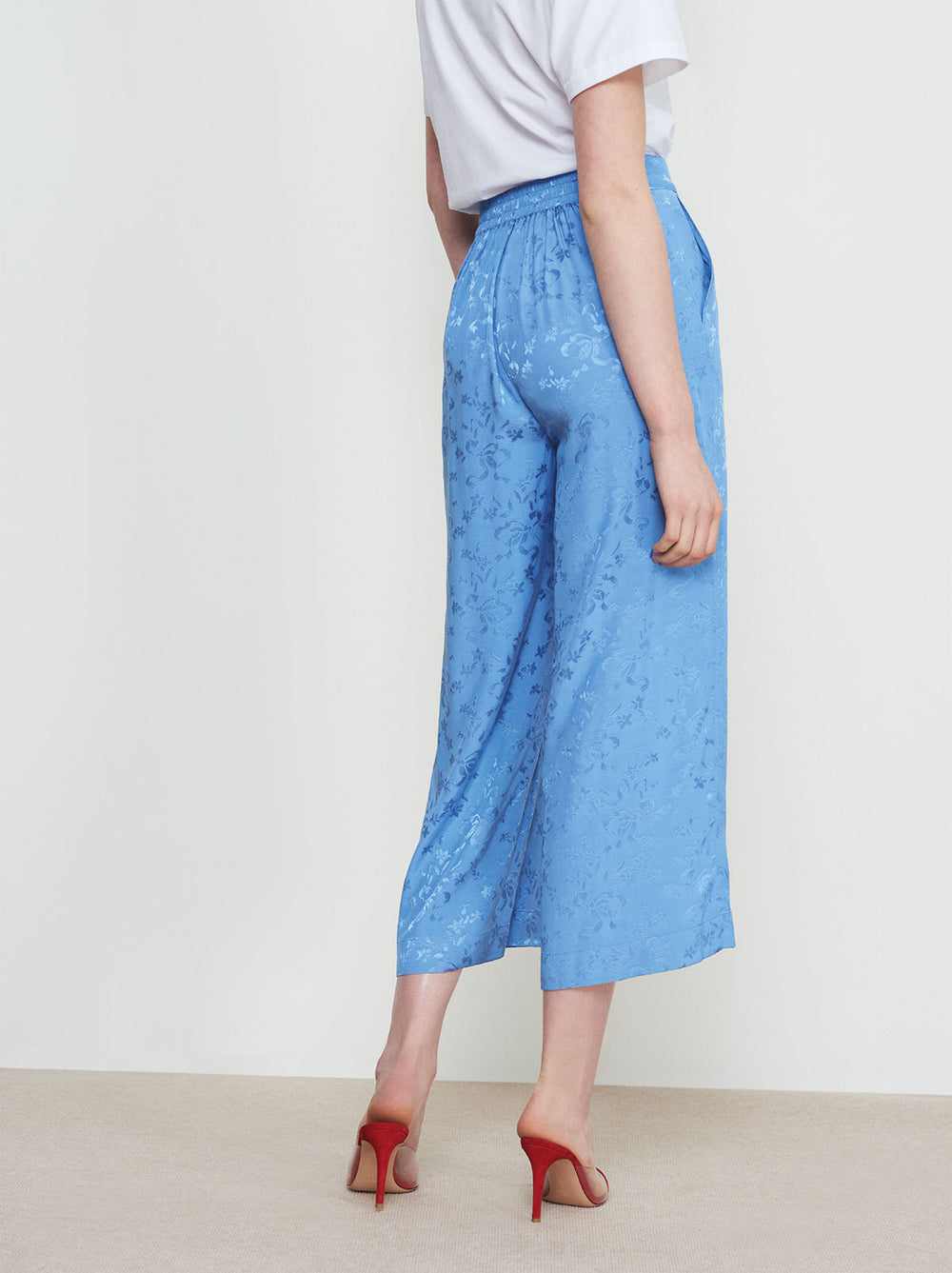 Wheeldon Cornflower Blue PJ Culotte Trousers by KITRI Studio