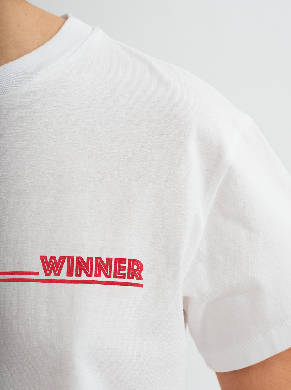 Winner Printed Cotton Crew Neck T-shirt by KITRI Studio