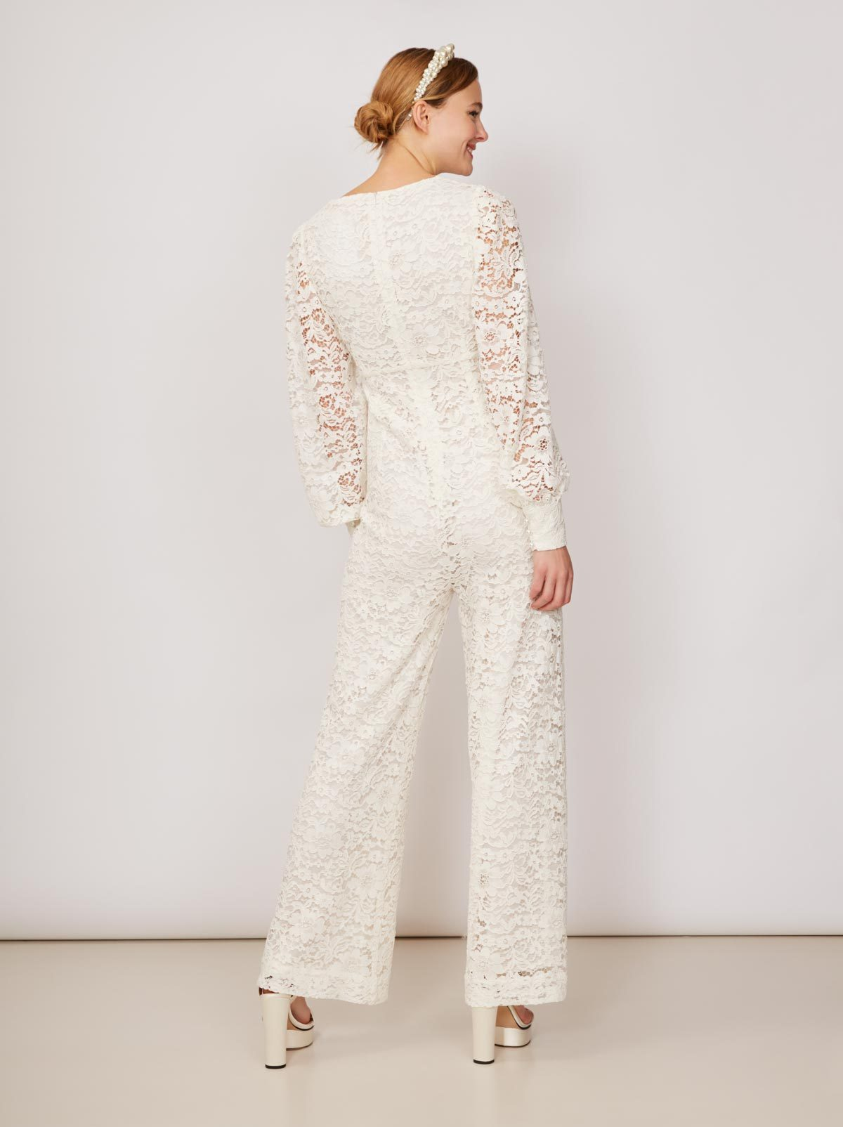 Kahlo Ivory Lace Jumpsuit by KITRI Studio