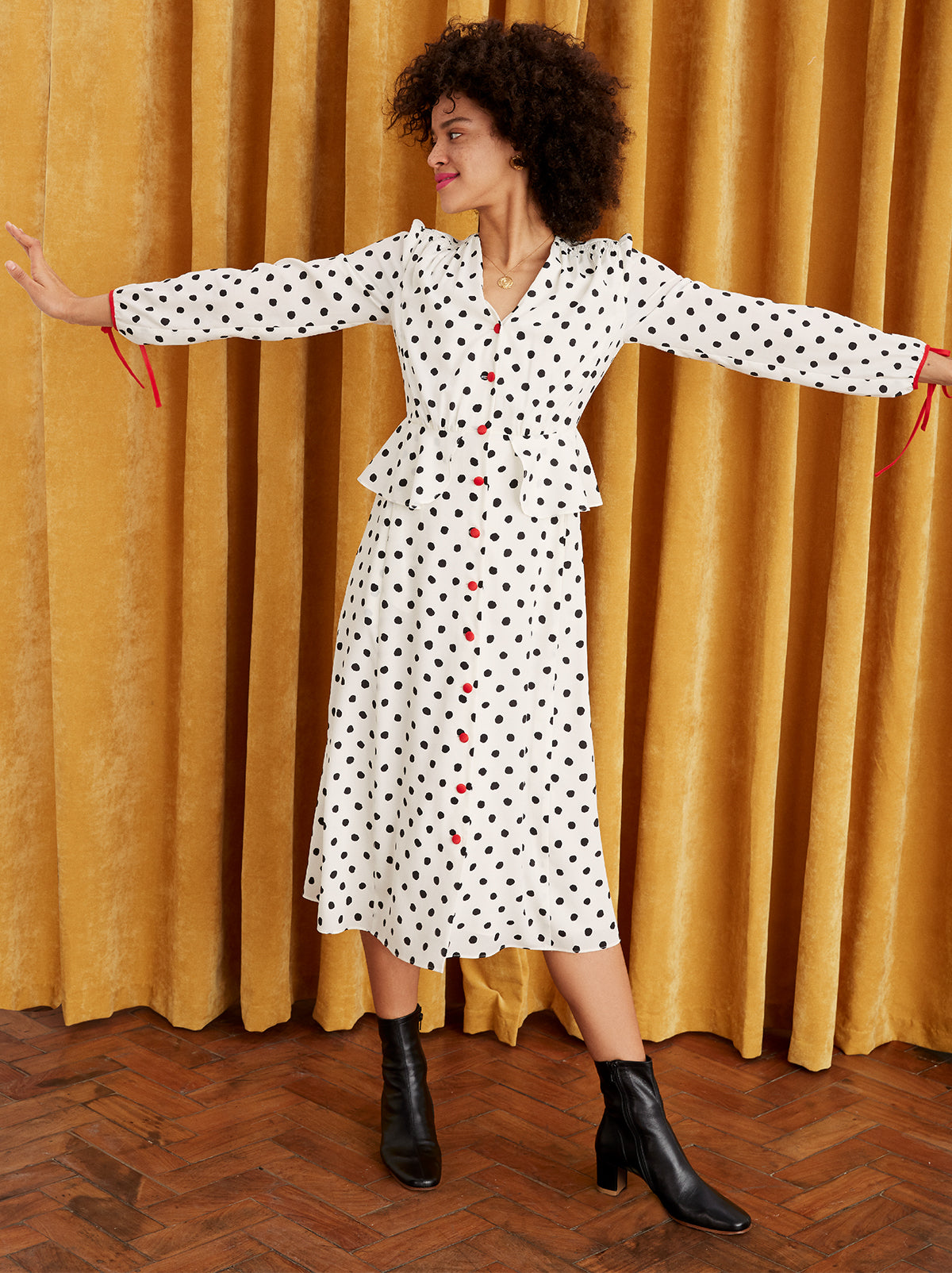 b37c388eaab7 ... Lana White Polka Dot Dress by KITRI Studio ...