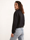 Leo Black Cotton Noir Sweatshirt by KITRI Studio