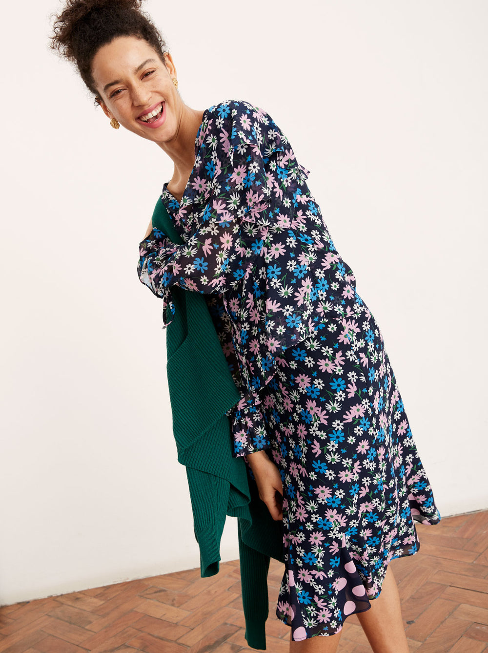 Lois Floral Print Flared Skirt by KITRI Studio