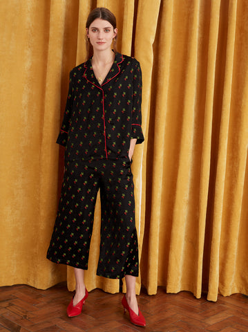 Mayara Black Cherry PJ Blouse by KITRI Studio
