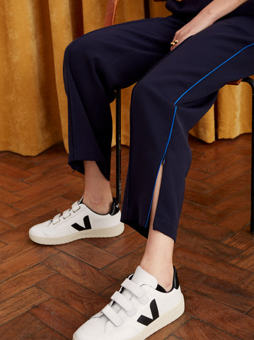 Merce Navy Tailored Track Pants by KITRI Studio