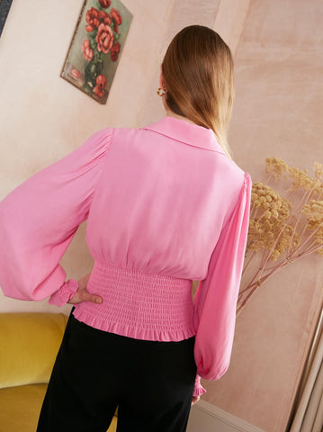Michelle Pink Vintage Top by KITRI Studio