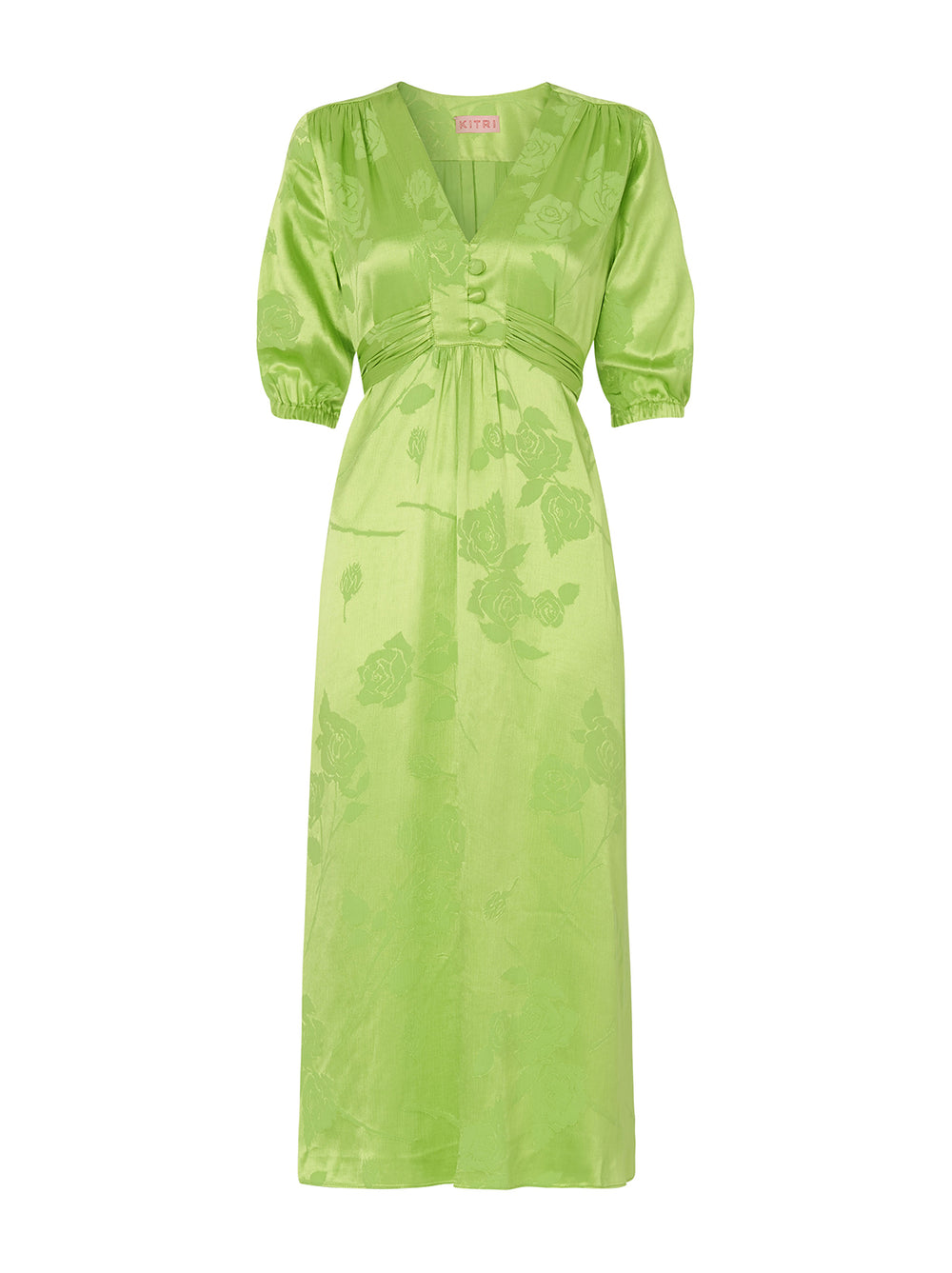 Minka Lime Jacquard Tea Dress by KITRI Studio