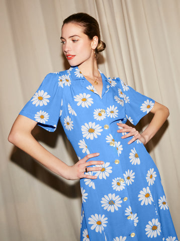 Nicola Floral Print Tea Dress by KITRI Studio