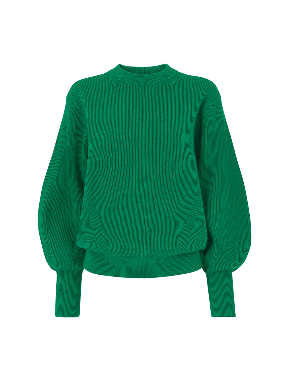 Odell Green Ribbed Knit Jumper by KITRI Studio