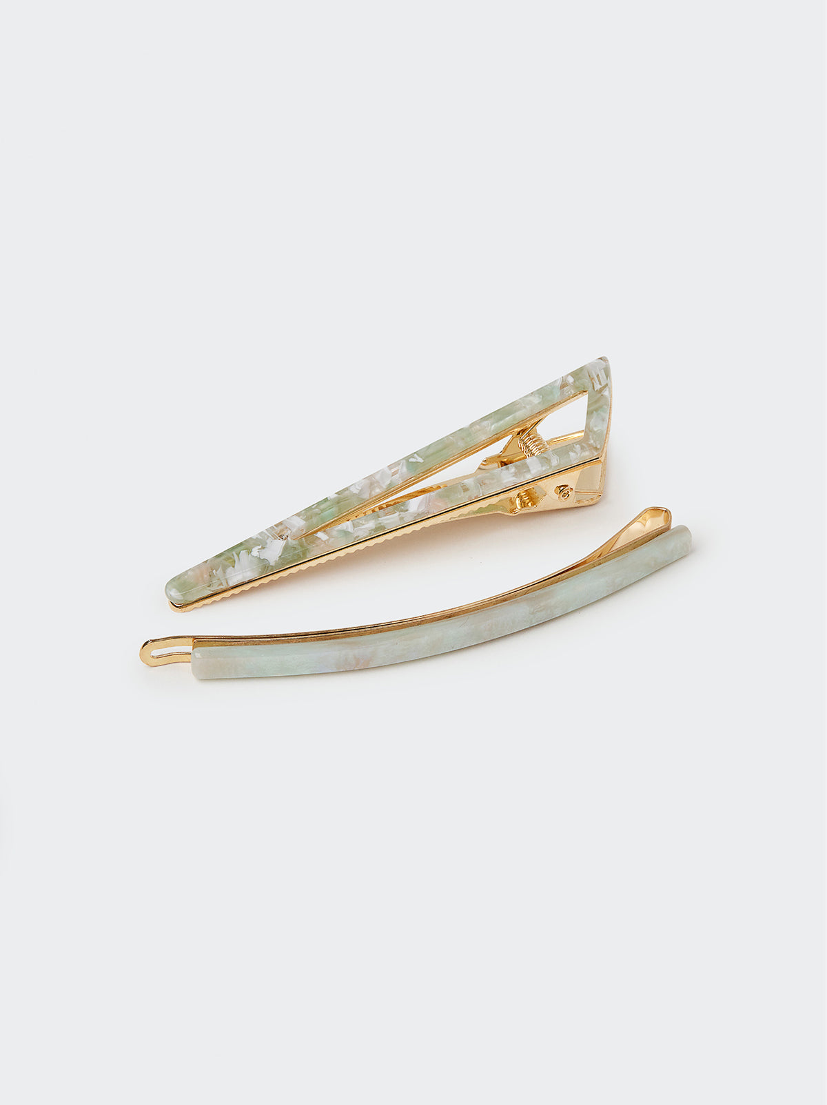 Mint Hair Clip Set