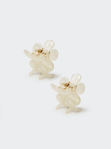 Pearlescent Butterfly Hair Clips