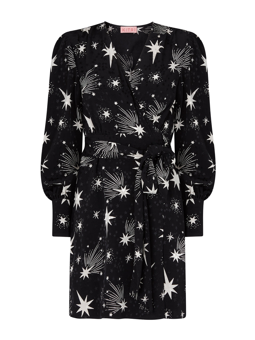 Rebecca Black Star Print Mini Dress by KITRI Studio