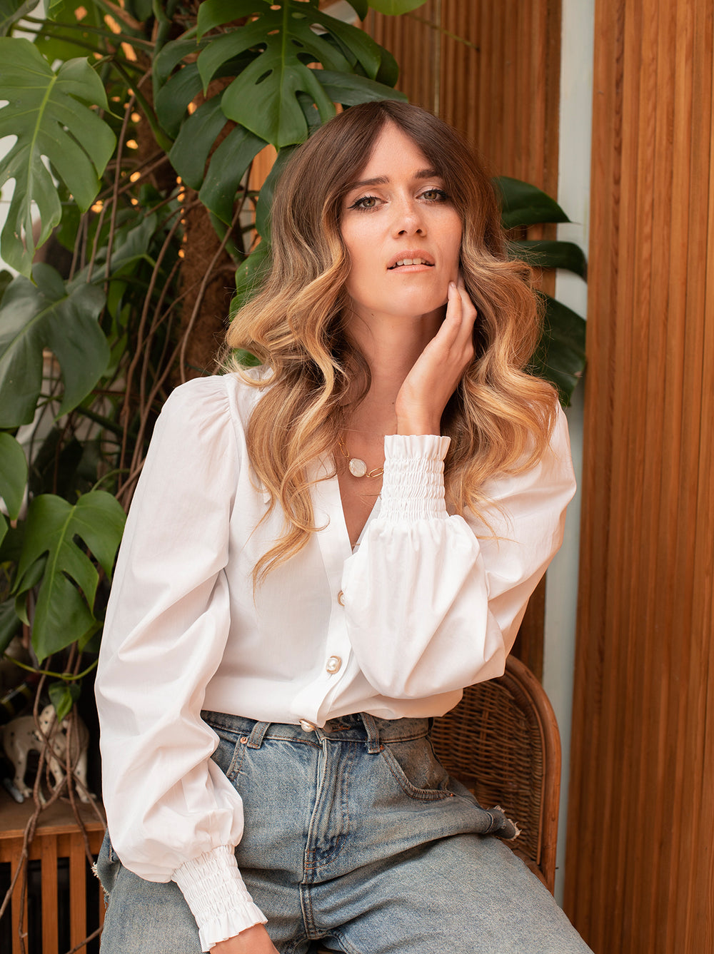 Sadie White Cotton Shirt