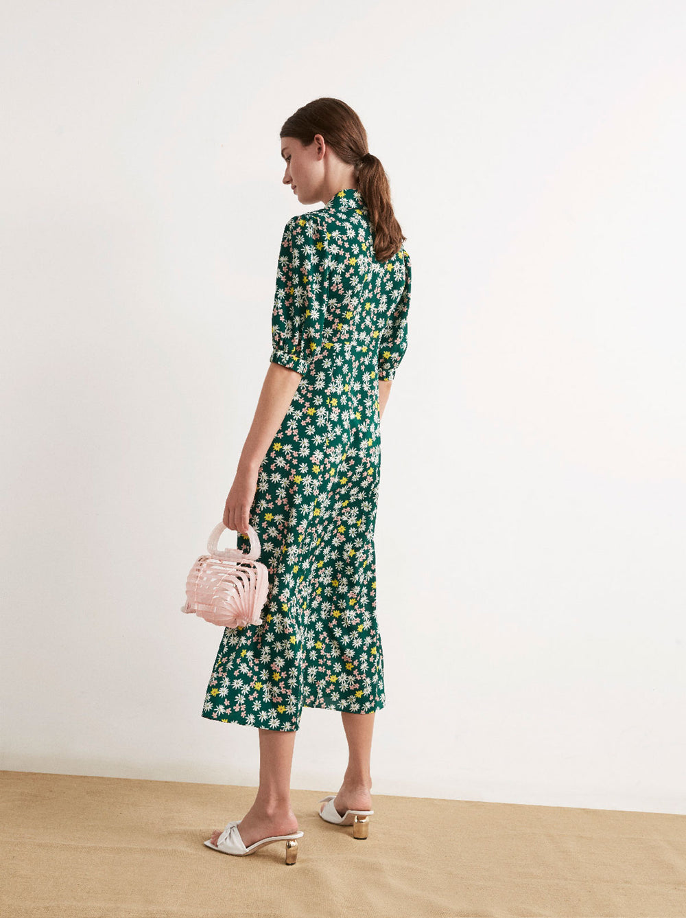 Siena Floral Print Tea Dress by KITRI Studio