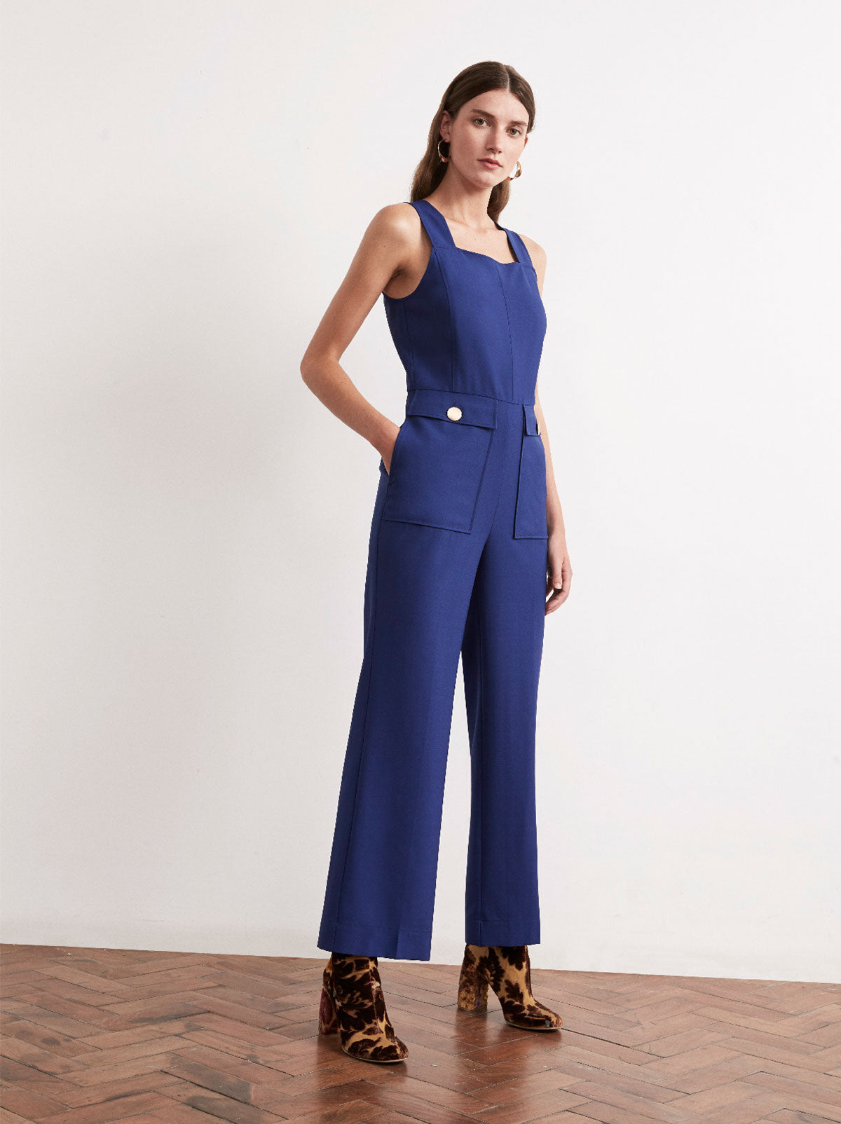 Skye Blue Sleeveless Jumpsuit by KITRI Studio