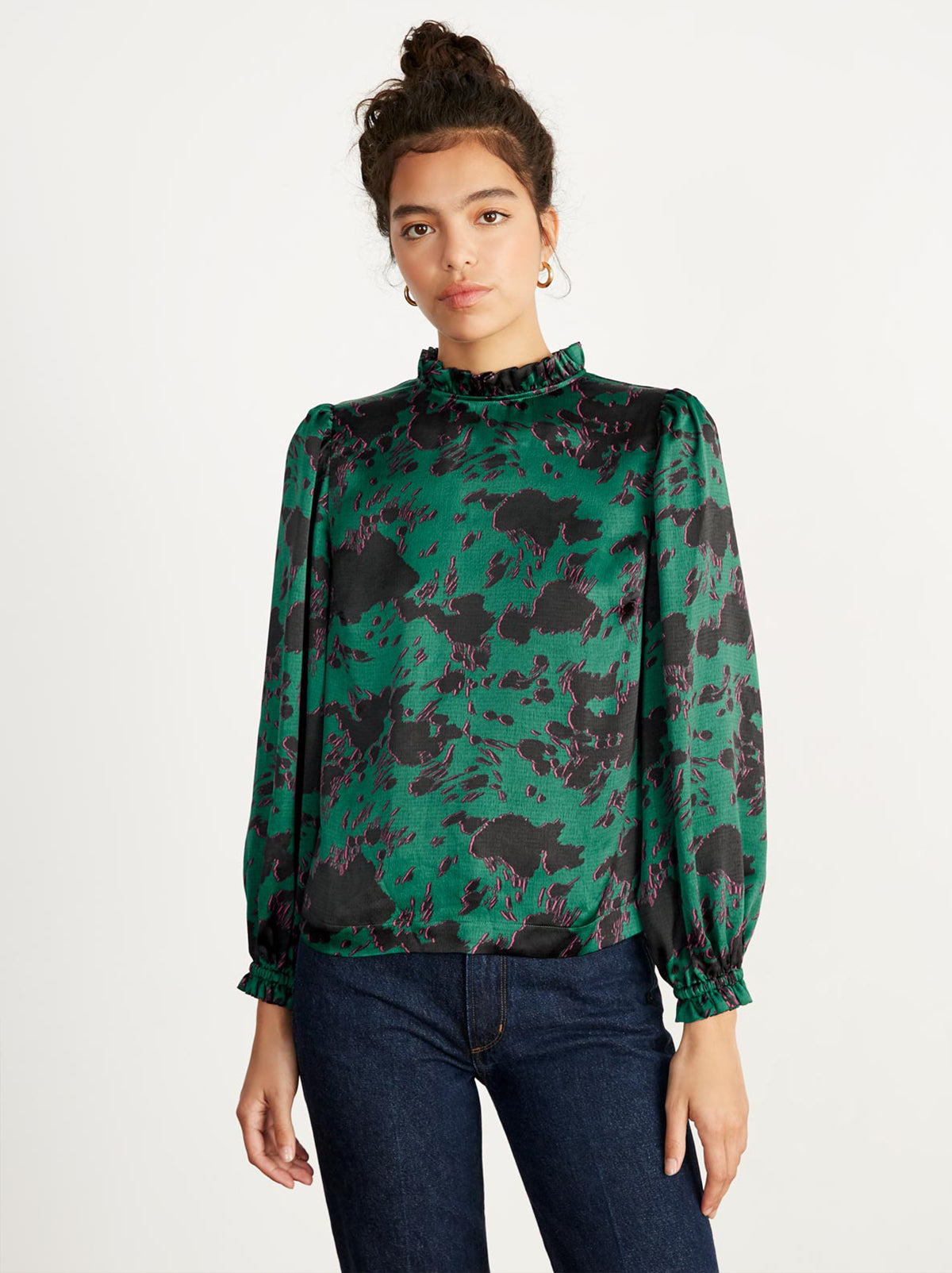 Teresa Green Cow Print Top by KITRI Studio