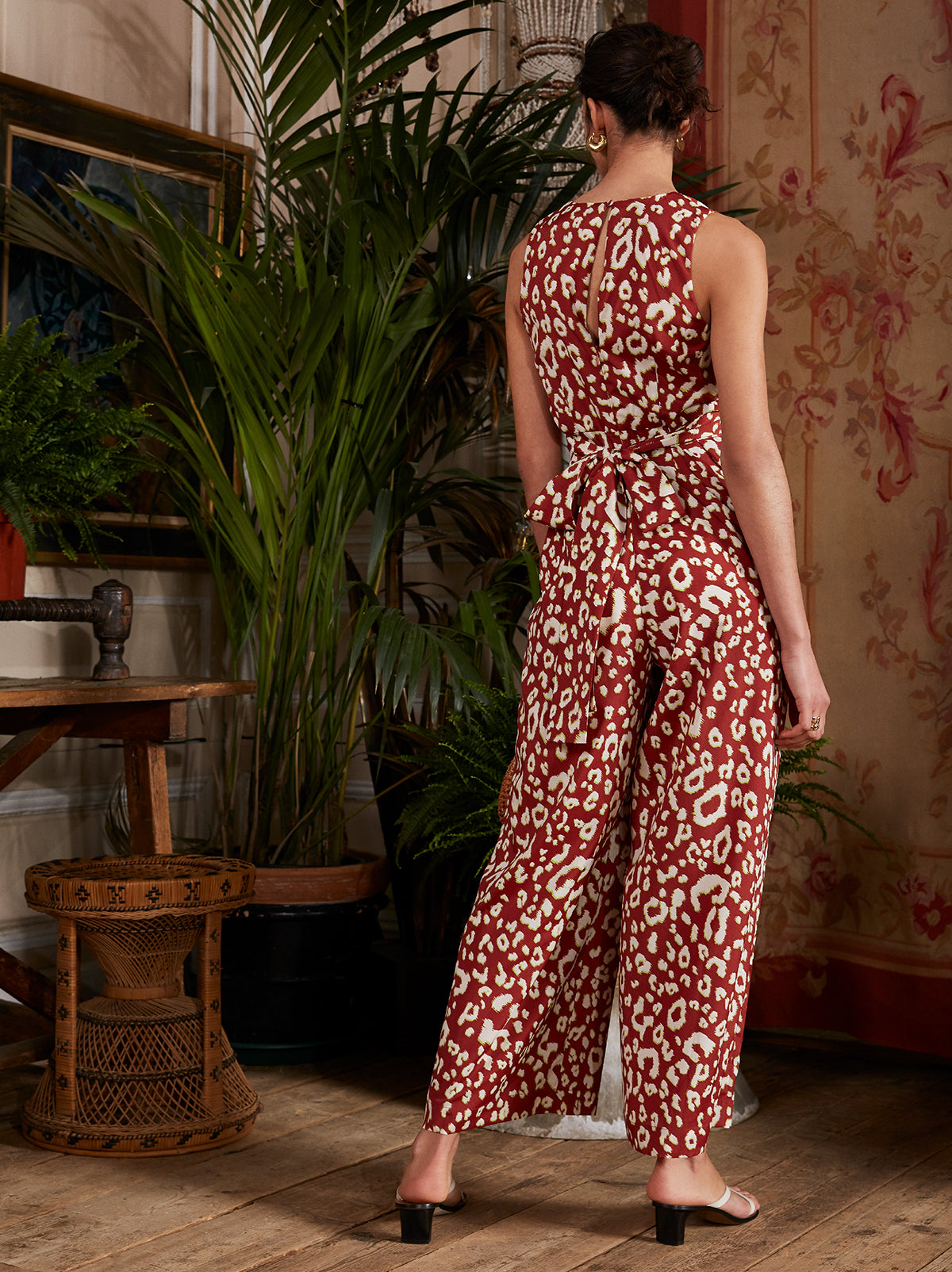 Wayne Animal Print Wrap Jumpsuit by KITRI Studio