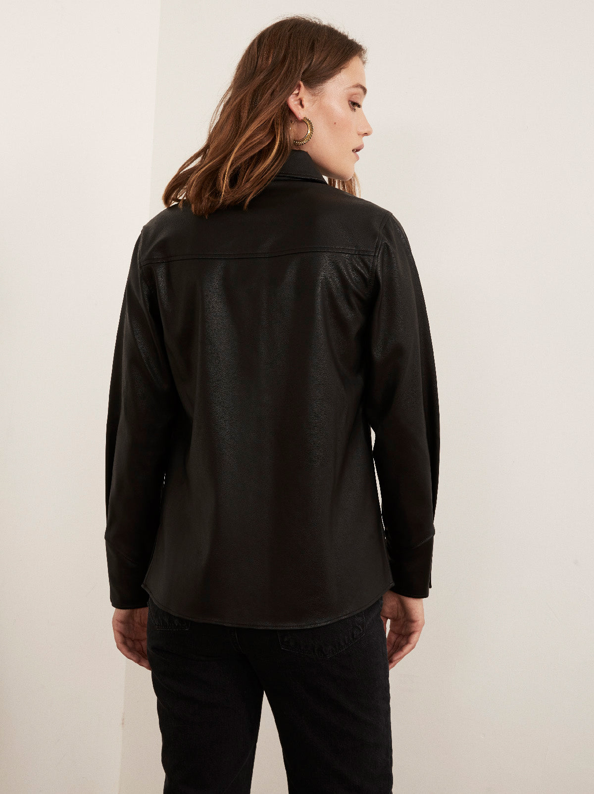 Willow Faux Leather Shirt