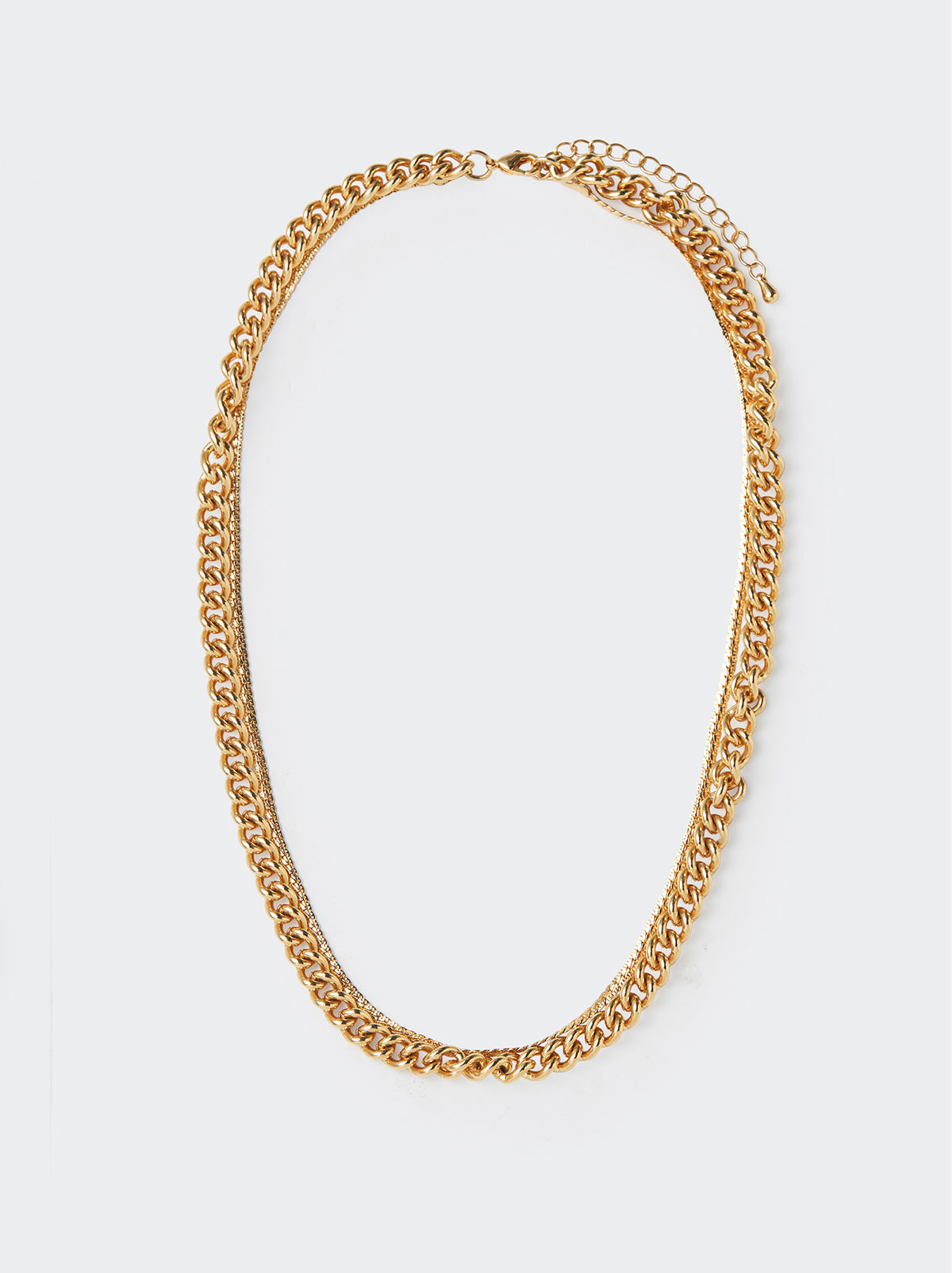 Gold Double Layer Chain Necklace