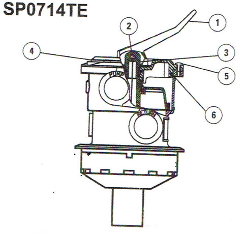 Hayward Multi-port Valve SP0714TE