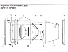 Hayward Under Water Light Spares