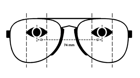 iconoclast sunglasses measurement eye positioning