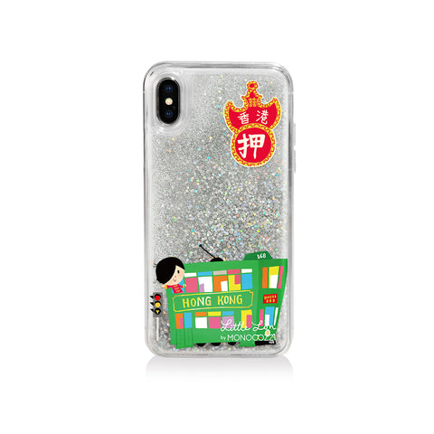 Pattern Lab x Little Lon | Liquid Glitter Case for iPhone XS - Tram
