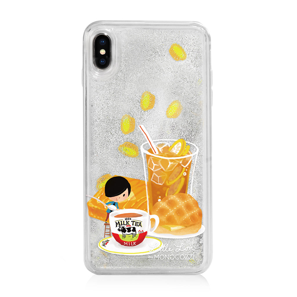 Pattern Lab x Little Lon | Liquid Glitter Case for iPhone XS Max - Milk Tea