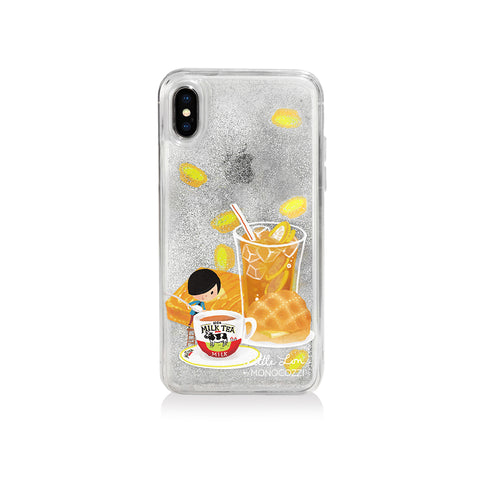 Pattern Lab x Little Lon | Liquid Glitter Case for iPhone XS - Milk Tea